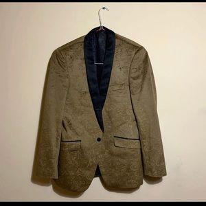 Men's Gold Velvet Suit Jacket